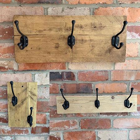 Reclaimed Wood Coat Hooks