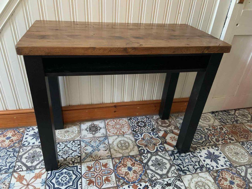 bespoke dark grey wooden side table