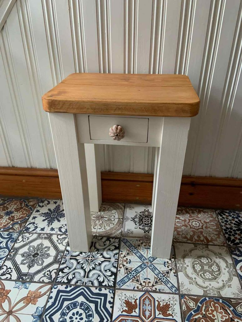 bespoke solid wood handmade bedside table