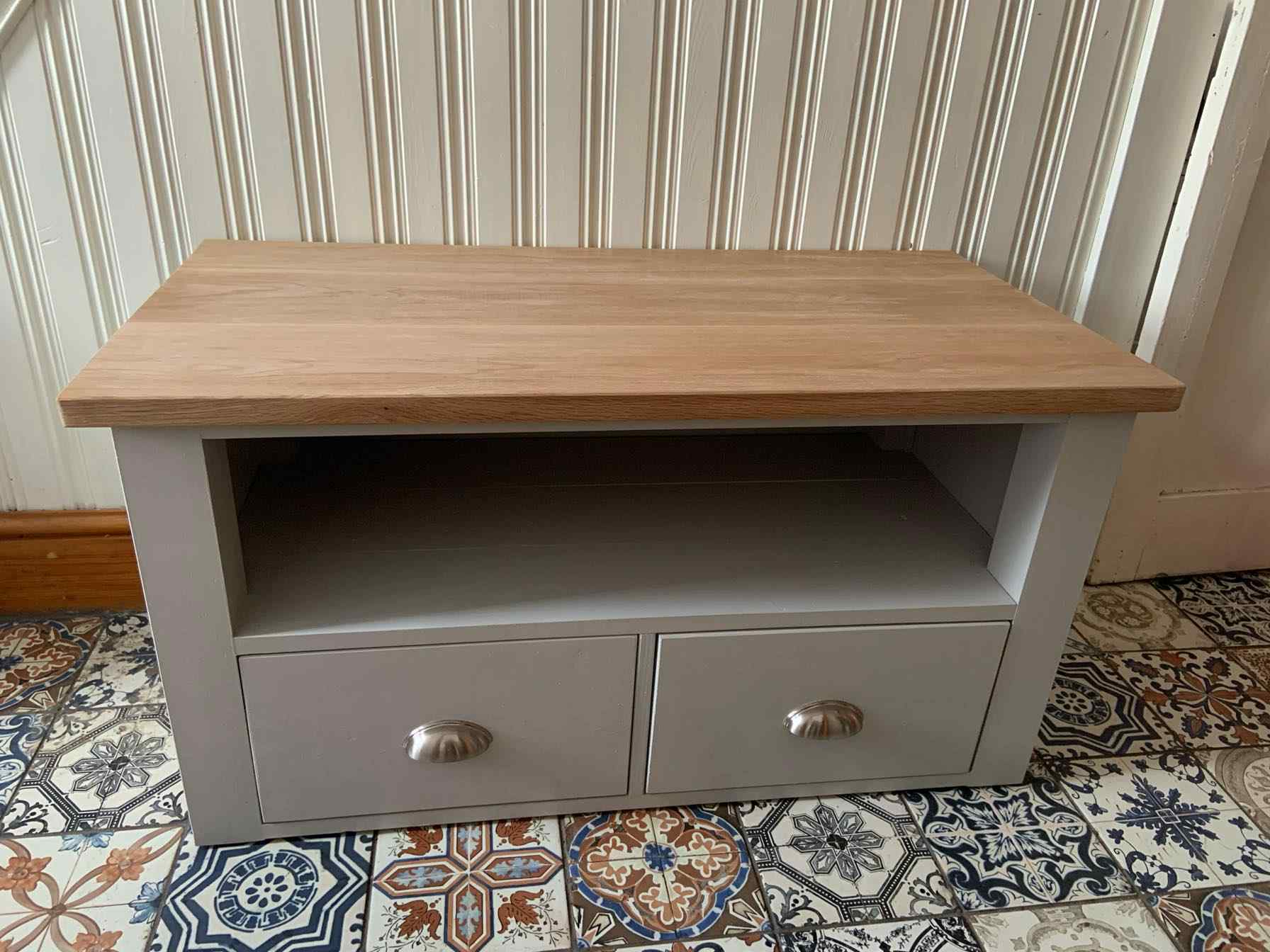 bespoke television stand reclaimed wood