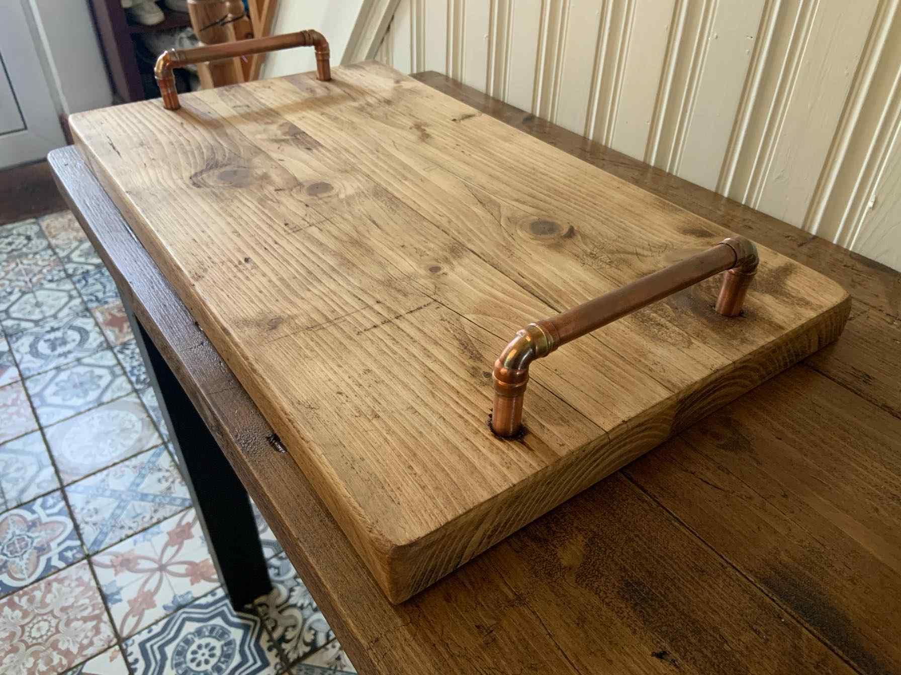 bespoke wooden dinner tray