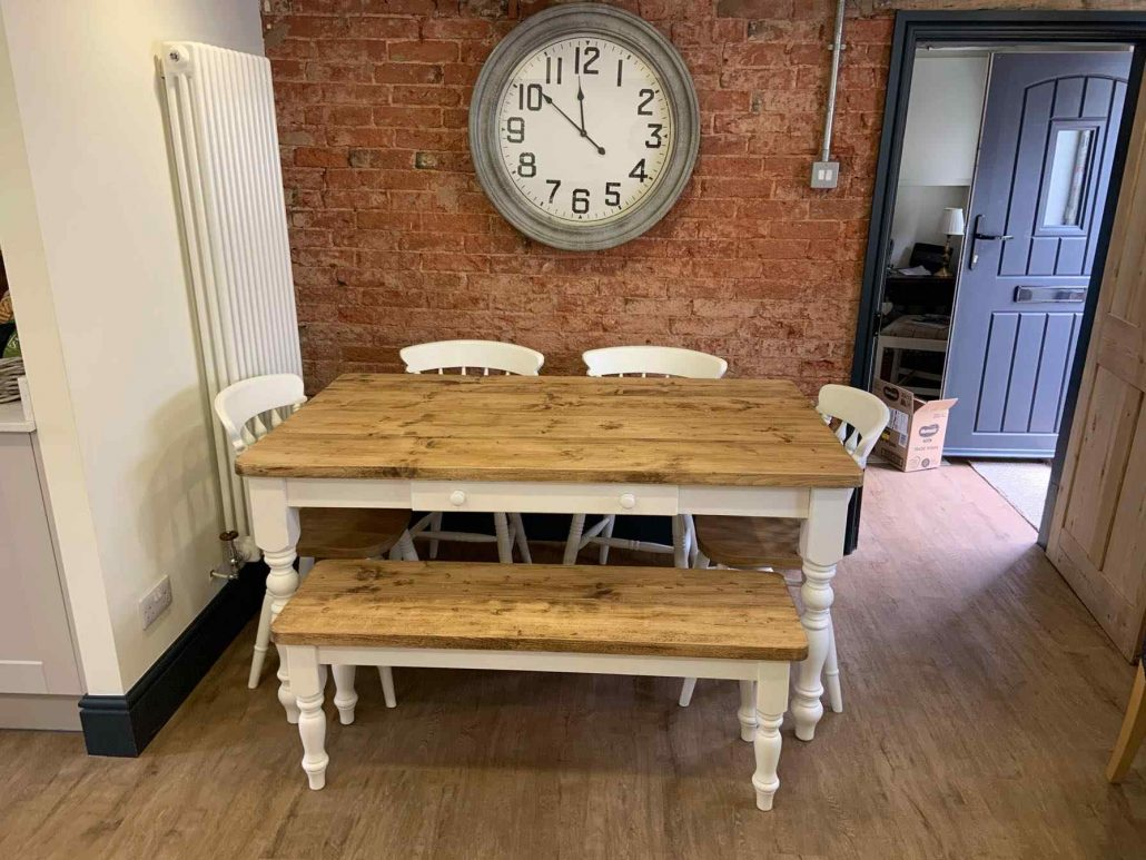bespoke wooden table chairs bench