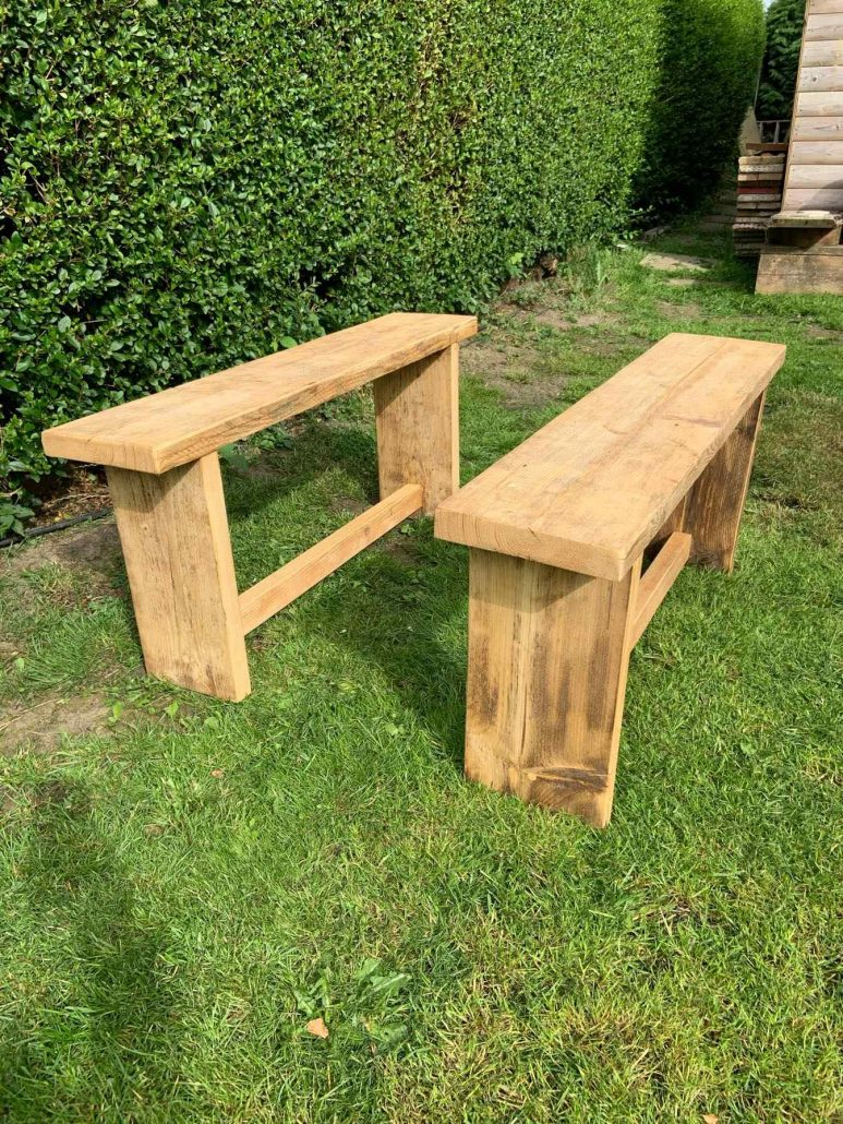 luxury reclaimed wood benches