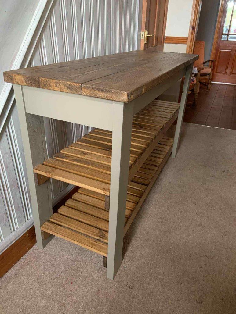 luxury solid wood shoe rack