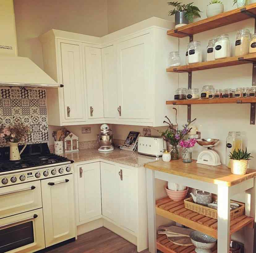 reclaimed wood kitchen panty storage with shelves