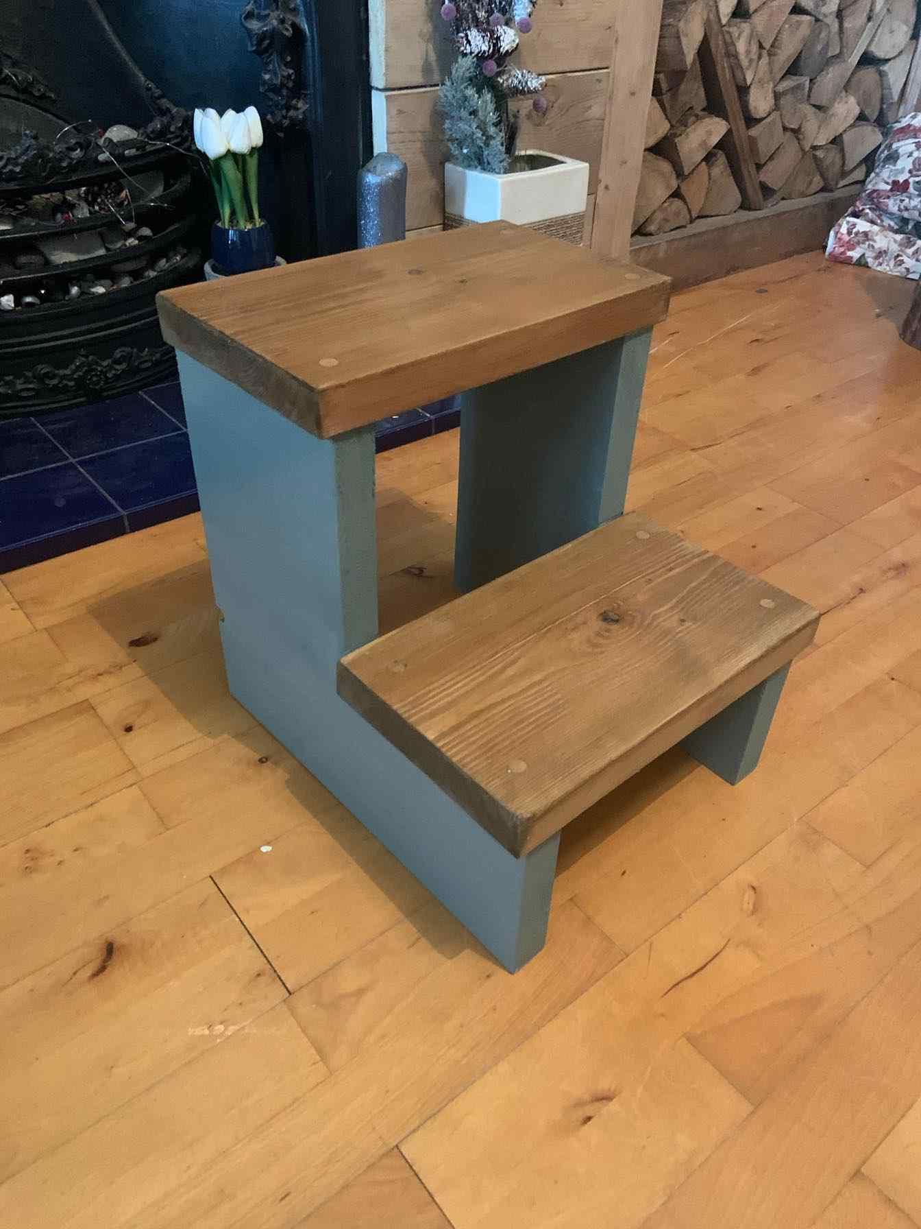 wooden kitchen steps